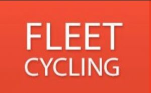 Fleet Cycling logo, linked to open Fleet Cycling website in new window