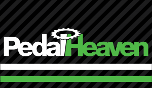 Pedal Heaven logo, linked to open Pedal Heaven website in new window